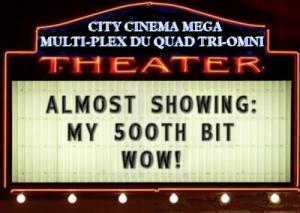 City Cinema 500th sign