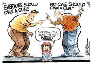"Jeff Koterba cartoon for January 10, 2013 ""Guns"""