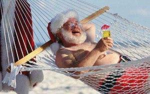 Santa in Hammock