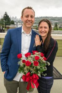 Engagement on the Roof